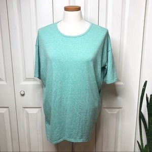 Lularoe Irma, solid mint/ teal/ aqua green